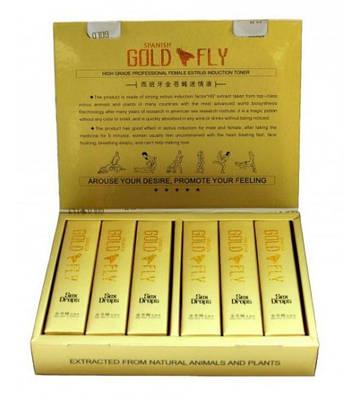 Spanish Gold Fly (12 шт. в упаковке, капли),возбуждающие капли для женщин Шпанская мушка