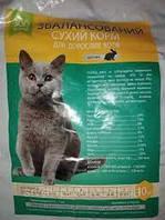 Сухой корм для котов с кролем, ЗооКорм, 10 кг
