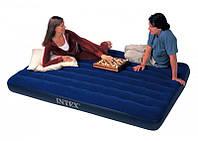 Полуторний надувний матрац Intex Classic Downy 137Х191Х22 див.