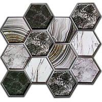Декоративна ПВХ плитка на самоклейці стільники 300х300х5мм, ціна за 1 шт. (СПП-001), фото 1