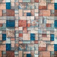 Декоративная 3D панель самоклейка под кирпич Цветная мозаика 700х770х4мм, фото 1