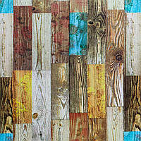 Самоклеюча декоративна 3D панель Палітра дерево 700х700х4мм, фото 1