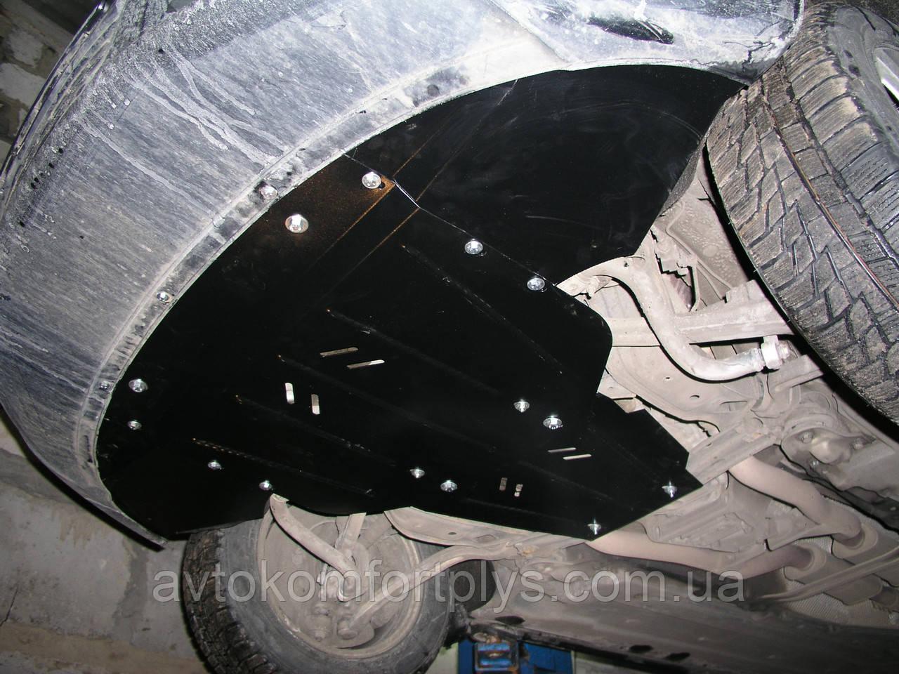 Металлическая (стальная) защита двигателя (картера) Audi A6 C6 (2004-2011) (V-3,5: 2,4 T; 2,0D; 3,0D)
