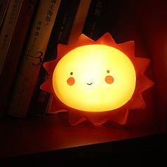 Дитячий світильник-нічник Lesko AJ-1817 Сонечко бездротовий на батарейці
