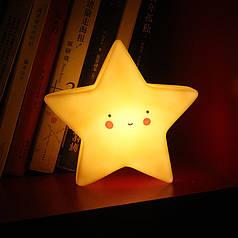 Дитячий світильник-нічник Lesko AJ-1817 Жовта зірка бездротовий на батарейці