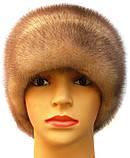 """Норковая шапка-косынка """"Стелла"""" цвет колотый лёд, фото 2"""