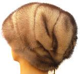 """Норковая шапка-косынка """"Стелла"""" цвет колотый лёд, фото 3"""