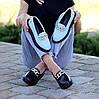 Ультра модные черные кожаные туфли мокасины натуральная кожа флотар, фото 2