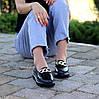 Ультра модные черные кожаные туфли мокасины натуральная кожа флотар, фото 4