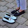 Ультра модные черные кожаные туфли мокасины натуральная кожа флотар, фото 3