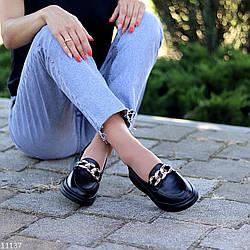 Ультра модные черные кожаные туфли мокасины натуральная кожа флотар