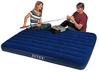 Двомісний надувний матрац Intex Classic Downy 191х76х22 див.