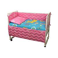 """Набір в дитячу ліжко розмір 60х120 """"cat-Yellow"""""""