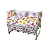 """Набір в дитячу ліжко розмір 60х120 """"Сови"""""""