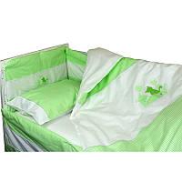"""Набір в дитячу ліжко розмір 60х120 """"Кошенята"""" Салатовий"""