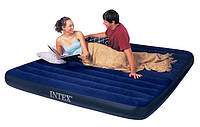 Двомісний надувний матрац Intex Classic Downy 183х203х22 див.