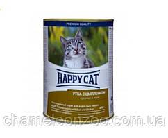Консерва Happy Cat Кусочки в желе с уткой и цыпленком для кошек