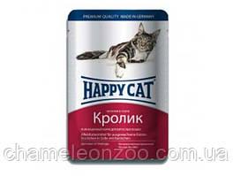 Happy cat кусочки в соусе с кроликом 100 г