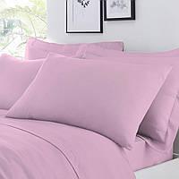 Ткань для постельного белья сатин V37 темно розовый 240м однотонный 130 плотность Napolyon Турция