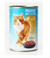 Консерва Reno Complete Menu Poultry Консервы с мясом птицы в желе для взрослых кошек  410 г