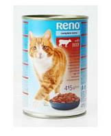 Консерва Reno Complete Menu Poultry Консервы с мясом телятины в желе для взрослых кошек  410 г
