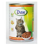 Консерва Dax - полноценный корм Дакс с курицей для кошек  0.415 г