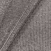 Стразовая ткань термоклеевая, Цвет Black Diamond (ss6), отрезок 1*24см