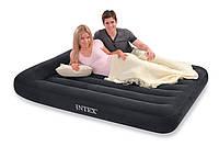 Двомісна надувна ліжко з підголовником Intex 152х203х23 див.