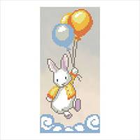 """Схема для вышивки бисером """"Кролик беленький"""""""