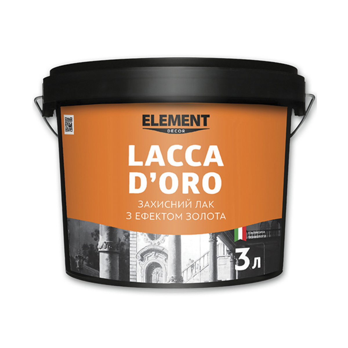 Лак Element Decor Lacca D'oro з ефектом золота 3л