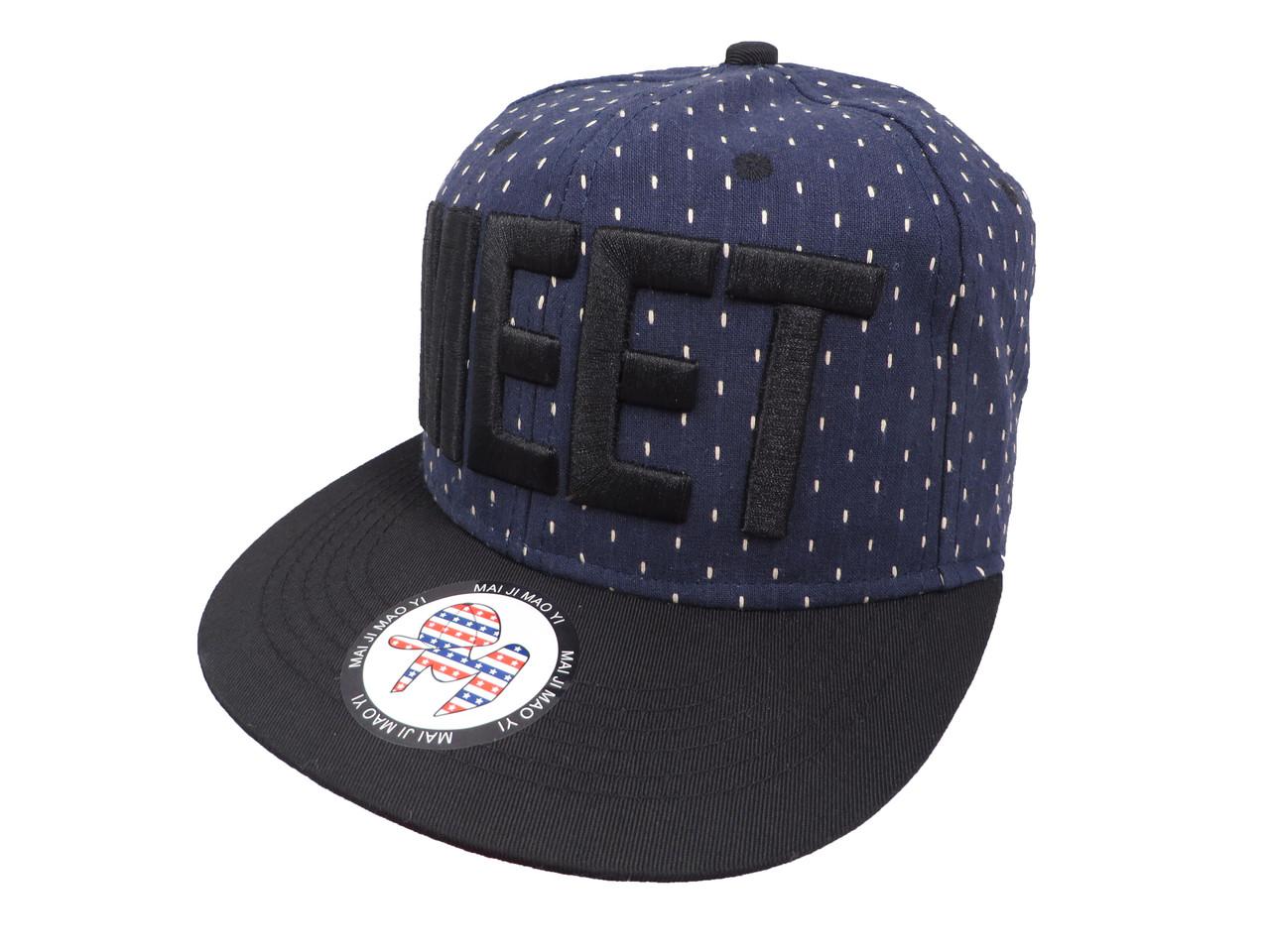 Темно-синяя кепка MEET (реплика)