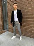 😜 Пальто Чоловіче чорне пальто піджак на осінь\ чоловіче пальто чорне піджак, фото 2