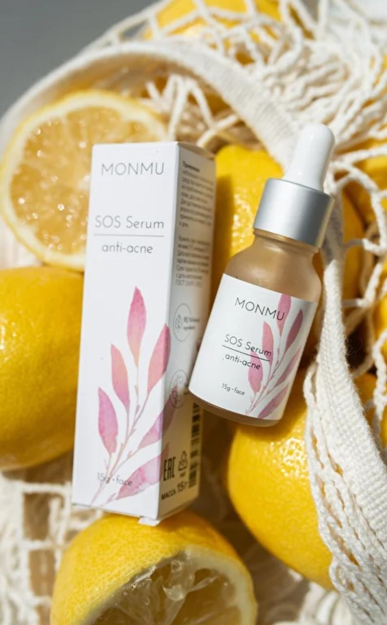 MONMU_Интенсивная SOS-сироватка anti-acne, з ефектом сияния_15 мл