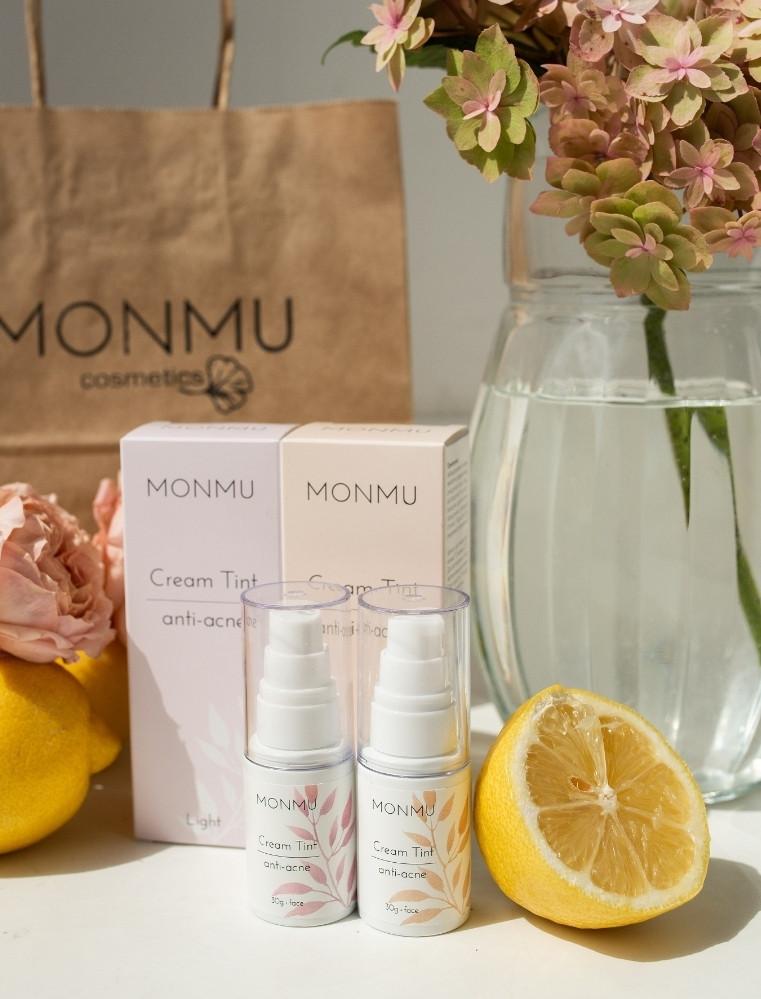 MONMU Крем-тінт «anti-acne» з мерехтливим эффектом_30 мл (натуральний тон, тон світлий)