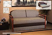 Диван мягкий с деревянными  подлокотниками   ( выкатной механизм ) Верона  Мебель Сервис