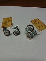Комплект из серебра 925 пробы с золотыми вставками 375 пробы