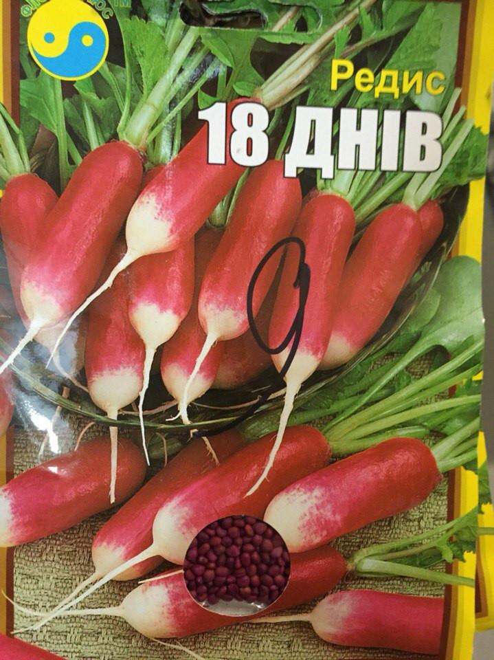 """Семена редиса инкрустированные, сорт """"18 дней"""", 15 г ТМ """"Флора Плюс"""""""