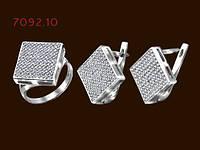 Комплект серебряный с белыми фианитами Румба