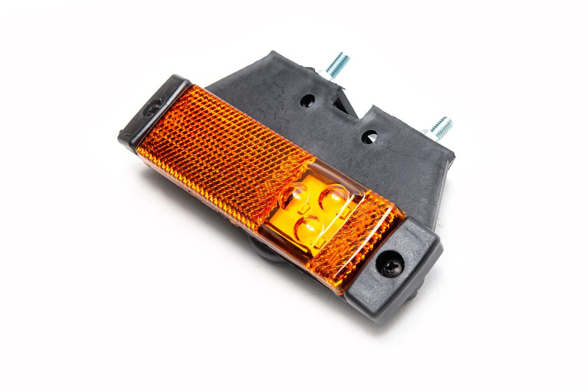 Габаритный фонарь диодный с кронштейном желтый 720306