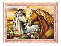 "Схема для вышивки бисером лошади, схема под бисер ""Пара"" лошадей"