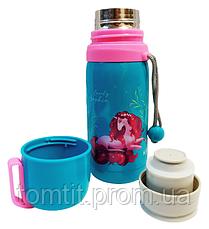 """Набір """"Єдиноріг"""" ТМ Kite. Контейнер (ланчбокс) для ланчу і Термос для напоїв, для дівчинки, фото 3"""