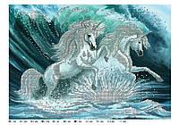 """Схема вишивки бісером """"Єдинороги і море"""""""