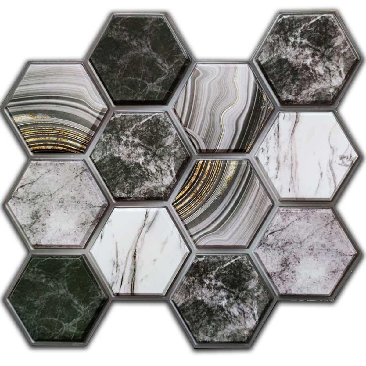 Декоративная ПВХ плитка на самоклейке соты 300х300х5мм, цена за 1 шт. (СПП-001)