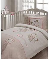 Постельное белье в детскую кроватку Karaca Home. Bebe Stelle, розовый, 7 предметов