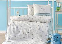 Постельное белье в детскую кроватку Karaca Home. Ранфорс Woof-Детский в кроватку