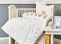 Постельное белье в детскую кроватку Karaca Home. Ранфорс Sleepers-Детский в кроватку