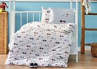 Постельное белье в детскую кроватку Karaca Home. Ранфорс My Car-Детский в кроватку