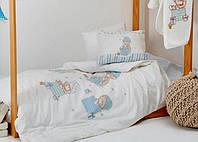 Постельное белье в детскую кроватку Karaca Home. Ранфорс Funny Bears-Детский в кроватку