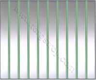 Реечный потолок: зеркальный с зеленой вставкой, фото 1