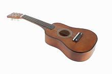 Игрушечная гитара с медиатором M 1369 деревянная  (Коричневый)